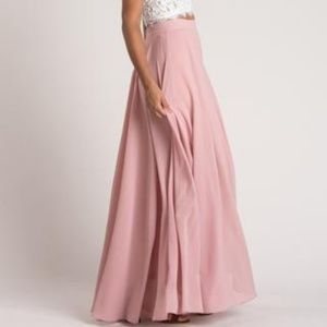 46a6c403500e AMELIA FULL ROSE MAXI SKIRT Petite M.  68  75. Size  MP · Morning Lavender